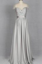 V-neck Cap Sleeve Chiffon&Satin Dress