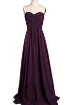 Elegant Sweetheart Chiffon Gown With Criss-cross Ruching