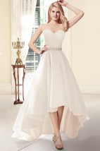 Sweetheart High-Low Organza Wedding Dress