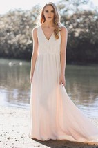 Classic V Neck Wedding Gown Weddig Dress