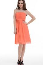 A-line Mini Strapless Chiffon Dress With Ruffles