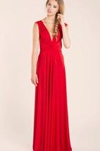 Red Elegant Infinity Jersey Long Dress
