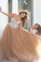 Gorgeous Sweetheart Beadings Prom Dresses 2016 Tulle Mother and Daughter Dress