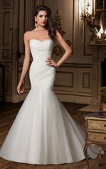 Sweetheart Mermaid Tulle Wedding Dress With Court Train