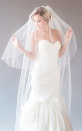 Korean Style Simple Double-layer Soft Tulle Veil with Hair Comb