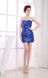 Fabulous Short Pencil Dress With Sequined Embellishment