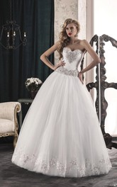 A-Line Strapped Sweetheart Tulle Lace Dress With Corset Back