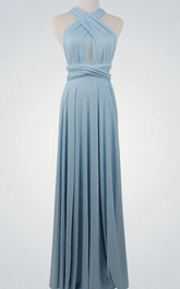 Halter Keyhole Infinity Long Bridesmaid Dress
