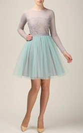 Short Grey And Mint Tulle Skirt Light Tulle Skirt Handmade Tutu Skirt Adult Tulle Skirt Adult Tutu Skirt Tulle Petticoat Dress