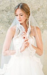 New Simple Retro Cover Veil Lace Applique Veil