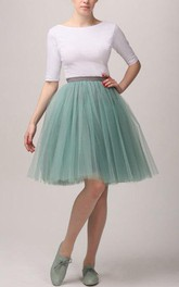White Mint Tutu Skirt Tulle Dress