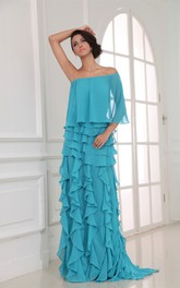 Magnificent Long Tiered Unique Sexy Chiffon Pleated Dress