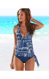 Western Patter Top Tankini Set