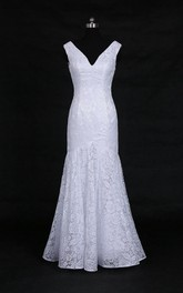 Sexy White Lace Mermaid White Gown Dress