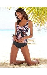 Leopard/Dotted/Floral Top Tankini Set
