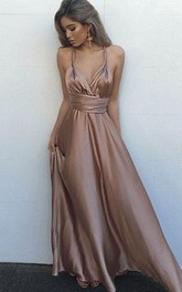Sexy Backless Evening Simple Party Prom Dress