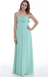 Maxi Sweetheart Chiffon&Satin Dress