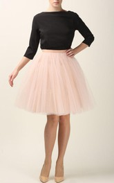 Black Blouse with Pink Tulle Dress
