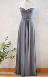 Long Silver Grey Infinity Dress