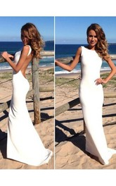 Trumpet Mermaid High Neck Sleeveless Spandex Floor-Length Dresses