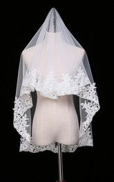 New Wedding Bridal Short Veil Paragraph Lace Simple Veil