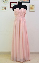 Floor-length Sleeveless Sleeve Chiffon Dress