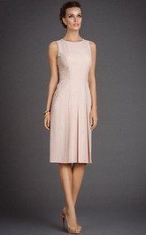 Satin Pleated Cocktail Formal Dress