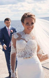 Mermaid Trumpet Long Sleeve Lace Wedding Dress