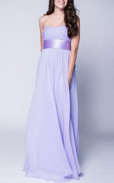 New 2018 Lavender Maxi Chiffon Bustier Beautiful Floor Length Prom Formal Wedding Dress