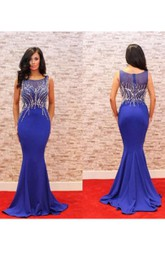 Sleeveless Stuning Mermaid Dress with Sequins