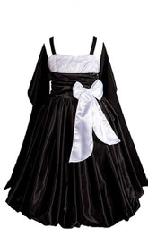 Sleeveless A-line Pleated Dress With Straps and Shawl