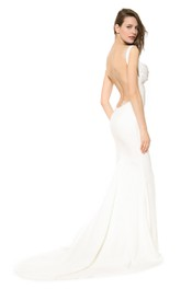 Sexy Long Mermaid Dress With Backless Style