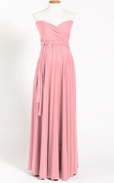 Powder Pink Maternity Infinity Long Maternity Maternity Light Pink Maternity Convertible One Size Dress