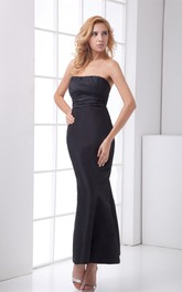 strapless ankle-length mermaid dress with back bow