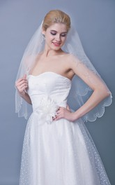 Two Tier Mid Scallop Edge Veil