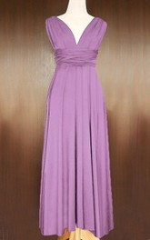 Maxi Purple Convertible Wrap Dress