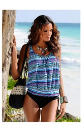 Romantic Boho Top Tankini Set