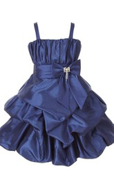 Sleeveless Ruffled Dress With Spaghetti Straps