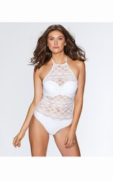 Sexy Regular-Wave Plain Swimsuit