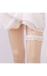 Selling Fresh Lace Western-style Stretch Bridal Garter Belt Within 16-23inch