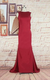 Trumpet Floor-length Cowl Jersey Dress