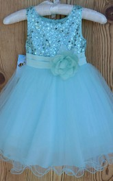 Pretty Princess Wedding Mesh Dress With Sparkly Bodice
