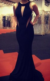 Sexy Black Sleeveless Mermaid Prom Dresses 2018 Floor Length