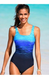 Romantic Gradient One Piece Swimsuit