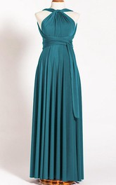 Tea-length Jersey&Satin Dress