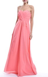 Long Sweetheart Chiffon Dress