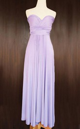 Maxi Lilac Convertible Wrap Jersey Dress