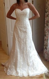 Applique Lace With Beading Mermaid Wedding Dress