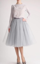 10% Off Discount Grey Tulle Skirt Long Skirt Tutu Skirt High Quality Skirt Tea Length Petticoat Tea Length Skirt Dress