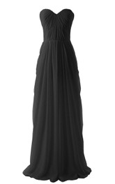 Exquisite Sweetheart A-line Pleated Chiffon Gown